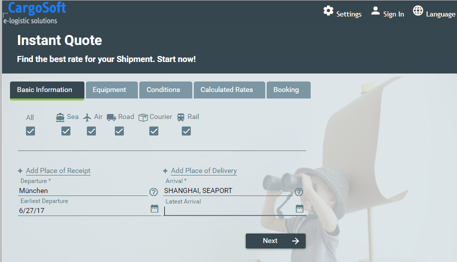 eForwarding Online Portal