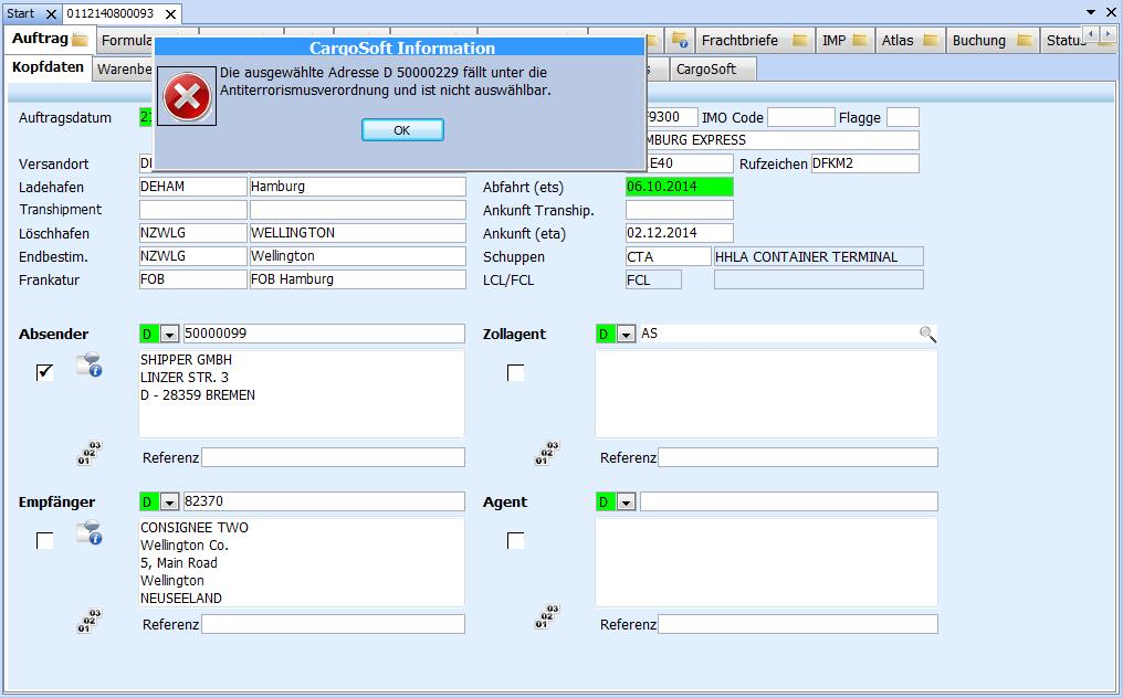 Compliance Cargosoft De