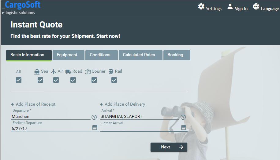 Online-Buchungsportal für See Luft Land